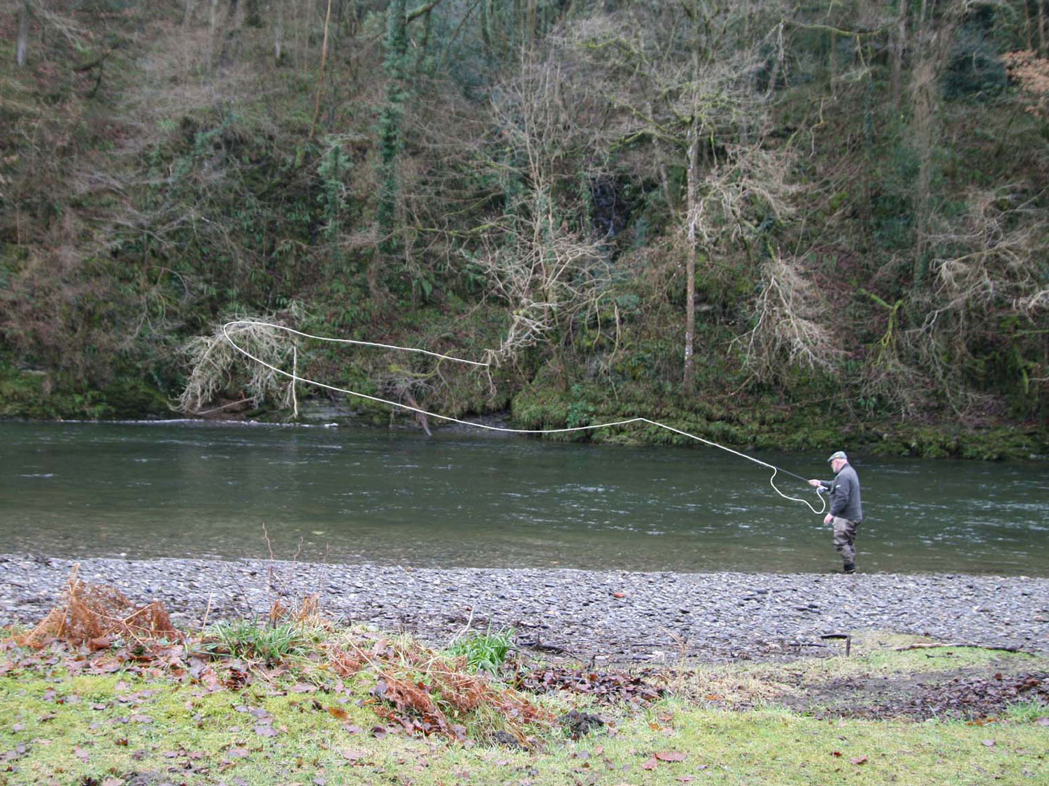 Illtyd Griffiths casting a fly